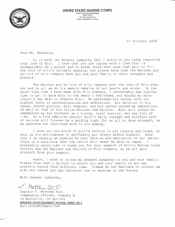 Marine corps letter of recommendation vatozozdevelopment recent posts artistic resume example sample notary letter spiritdancerdesigns Image collections
